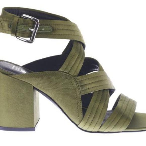 ed2c29056e5 NWT SOl Sana gabby heel in green satin